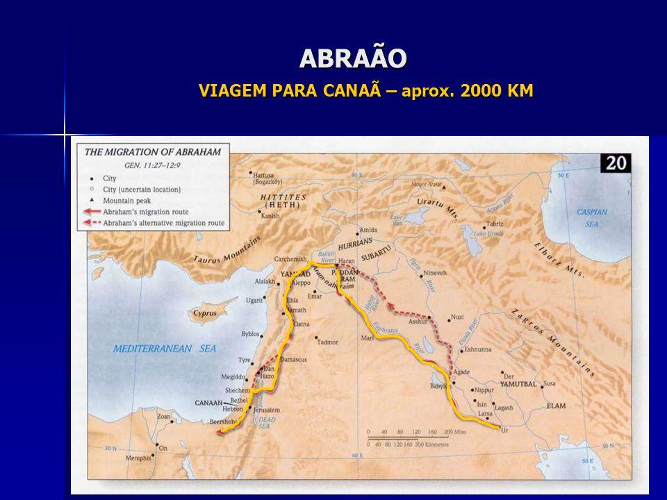 ABRAÃO VIAGEM PARA CANAÃ – aprox. 2000 KM