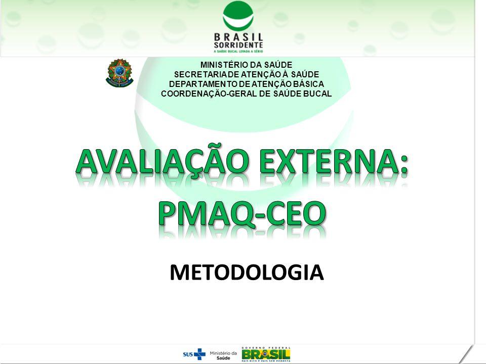 MINISTÉRIO DA SAÚDE SECRETARIA DE ATENÇÃO À SAÚDE DEPARTAMENTO DE ATENÇÃO BÁSICA COORDENAÇÃO-GERAL DE SAÚDE BUCAL METODOLOGIA