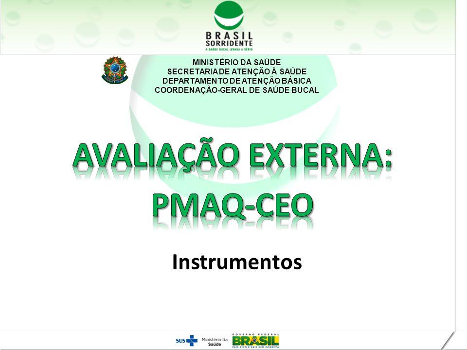 MINISTÉRIO DA SAÚDE SECRETARIA DE ATENÇÃO À SAÚDE DEPARTAMENTO DE ATENÇÃO BÁSICA COORDENAÇÃO-GERAL DE SAÚDE BUCAL Instrumentos