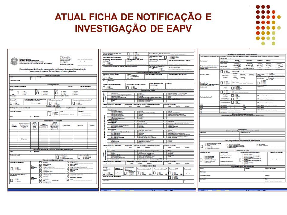 ATUAL FICHA DE NOTIFICAÇÃO E INVESTIGAÇÃO DE EAPV