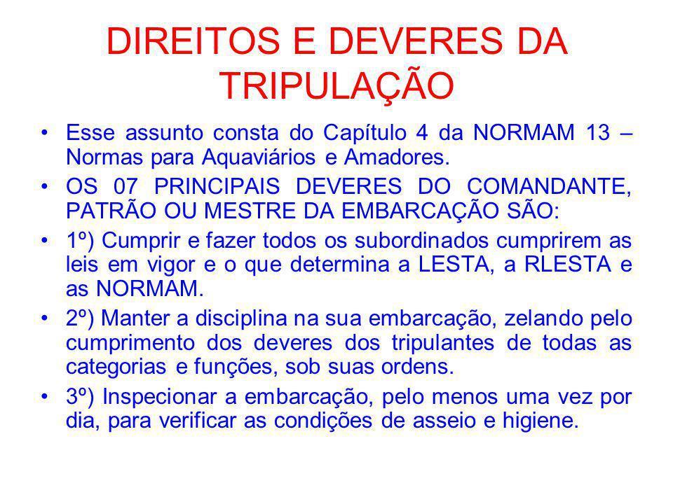 NORMAS DA AUTORIDADE MARÍTIMA NORMAM 04 – Operação de Embarcações Estrangeiras em Águas sob Jurisdição Nacional.