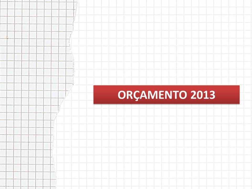 ORÇAMENTO 2013