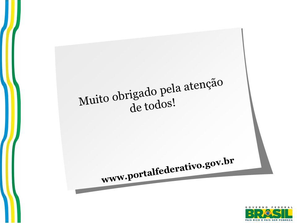 Muito obrigado pela atenção de todos! www.portalfederativo.gov.br