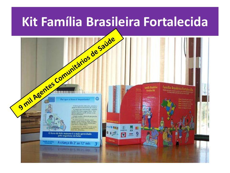 Kit Família Brasileira Fortalecida 9 mil Agentes Comunitários de Saúde