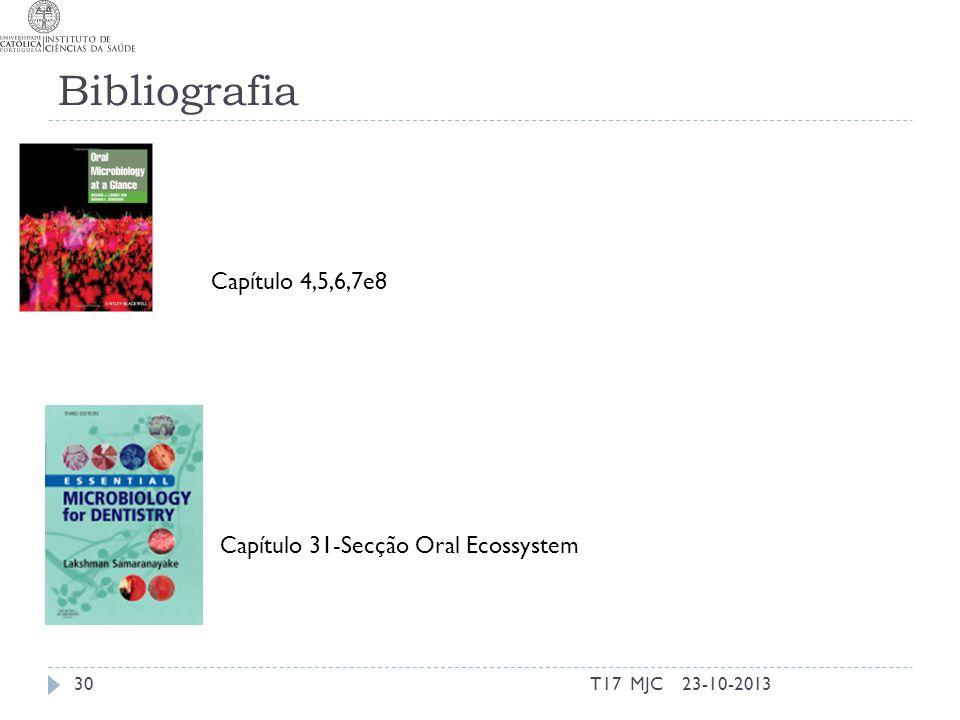 Bibliografia T17 MJC3023-10-2013 Capítulo 31-Secção Oral Ecossystem Capítulo 4,5,6,7e8
