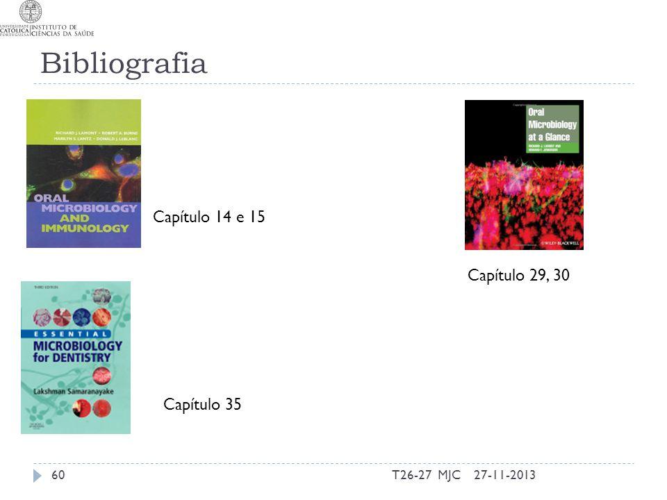 Bibliografia Capítulo 14 e 15 Capítulo 35 27-11-201360T26-27 MJC Capítulo 29, 30
