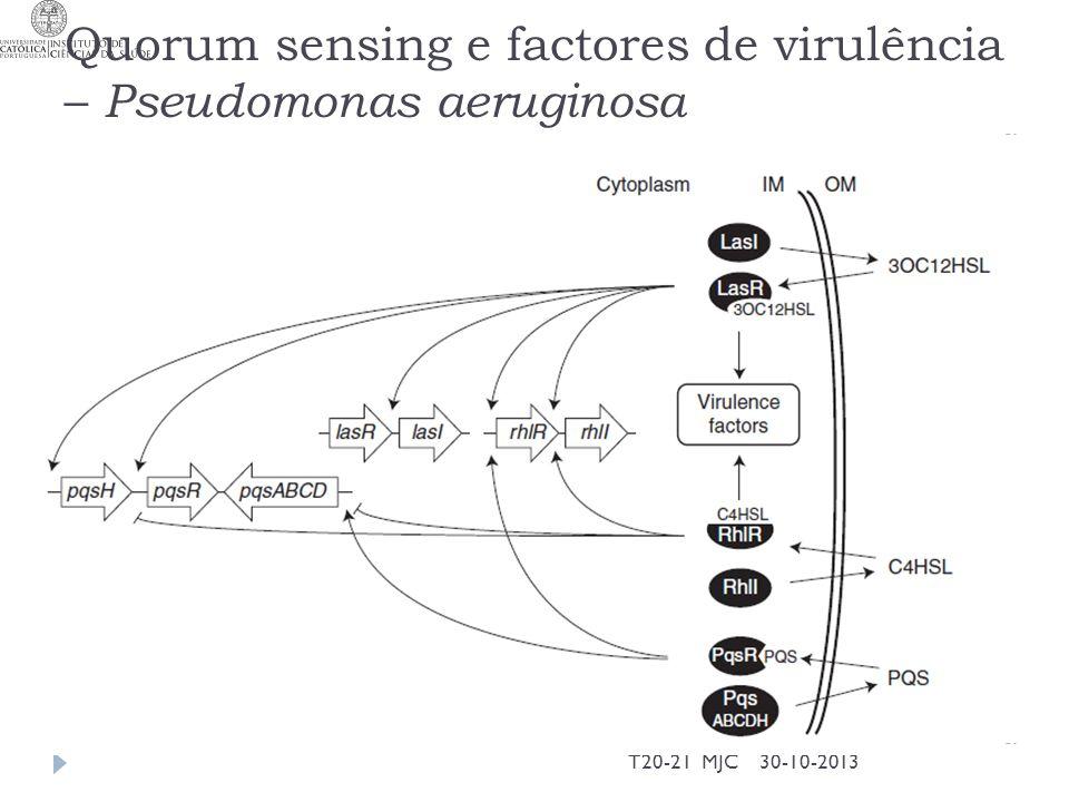 Quorum sensing e factores de virulência – Pseudomonas aeruginosa 30-10-2013T20-21 MJC