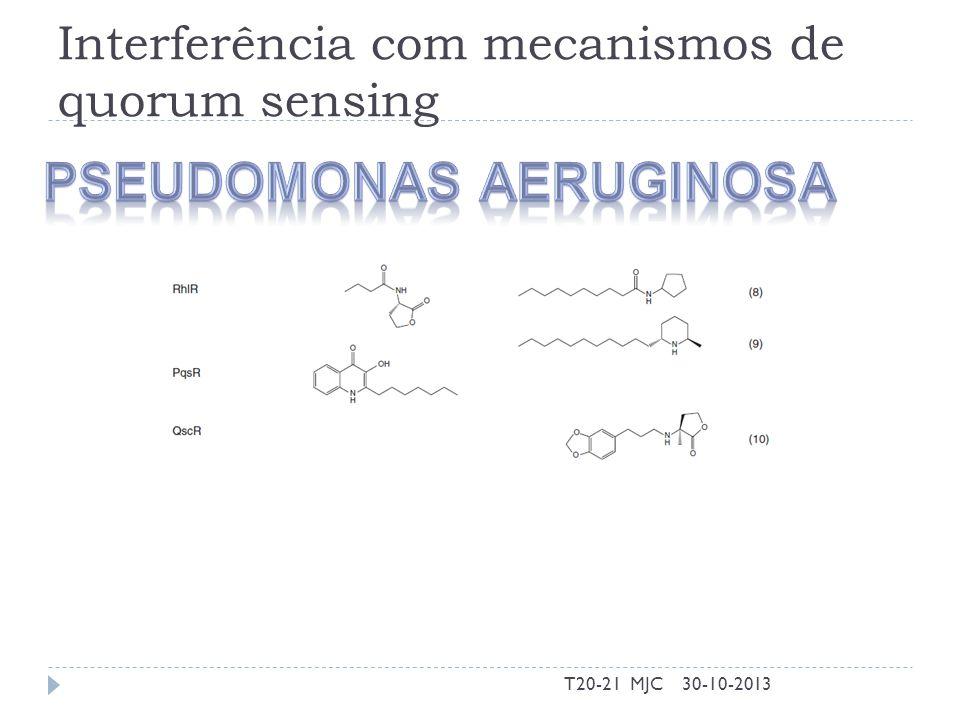 Interferência com mecanismos de quorum sensing 30-10-2013T20-21 MJC