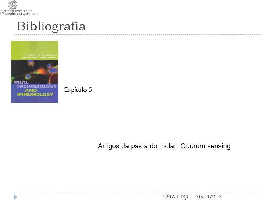 Bibliografia T20-21 MJC30-10-2013 Capítulo 5 Artigos da pasta do molar: Quorum sensing