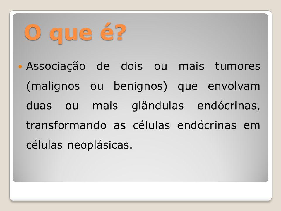 Quais as causas? Perda de genes de supressão tumoral MEN1 Presença de proto-oncogenes MEN2