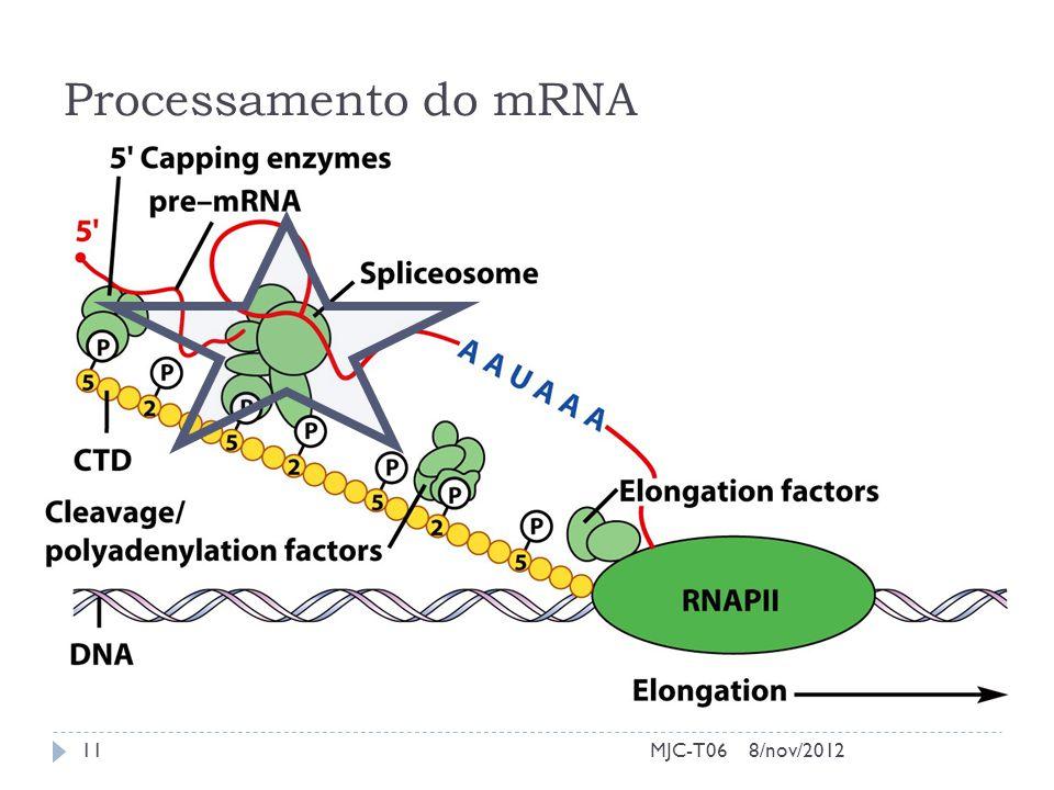 Processamento do mRNA 8/nov/2012MJC-T0611