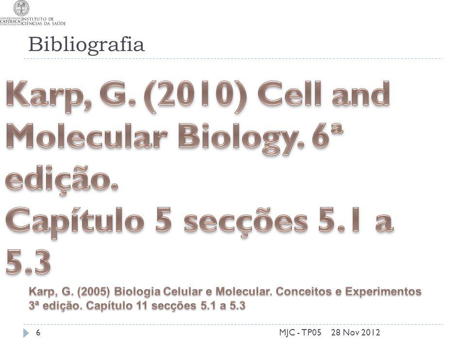 Bibliografia 28 Nov 2012MJC - TP056