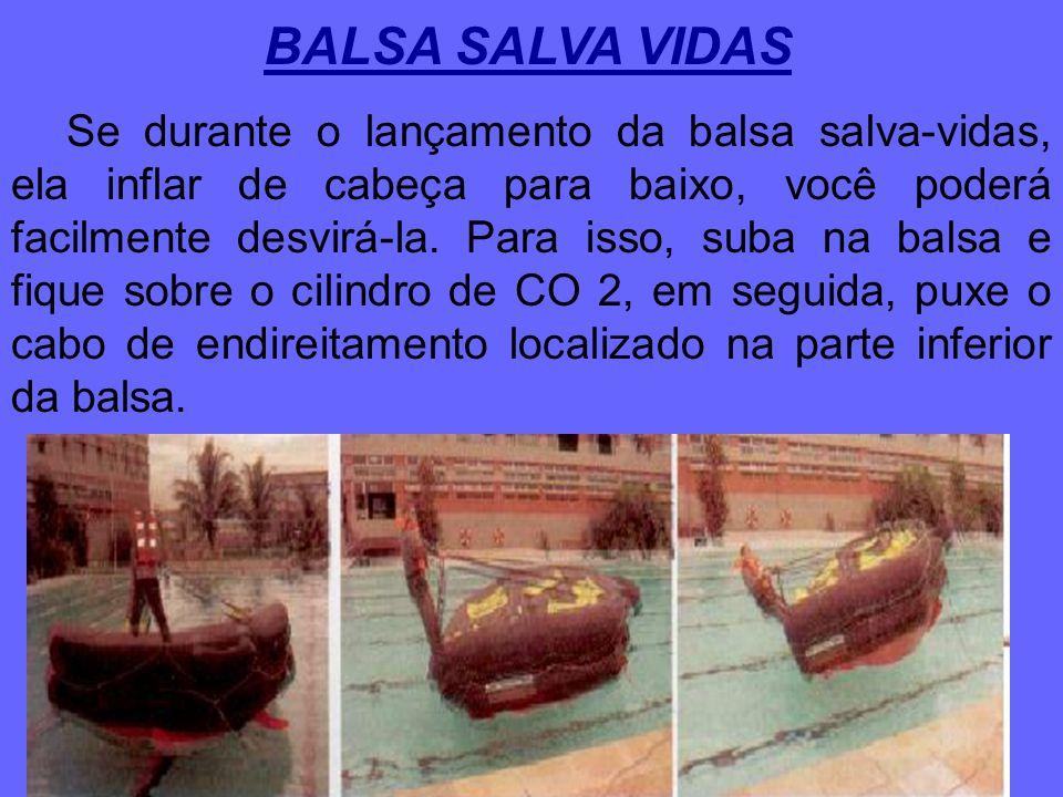 Existem duas maneiras de você entrar em uma balsa inflável: seco ou molhado. Em embarcações empregadas para navegação interior, geralmente existe uma