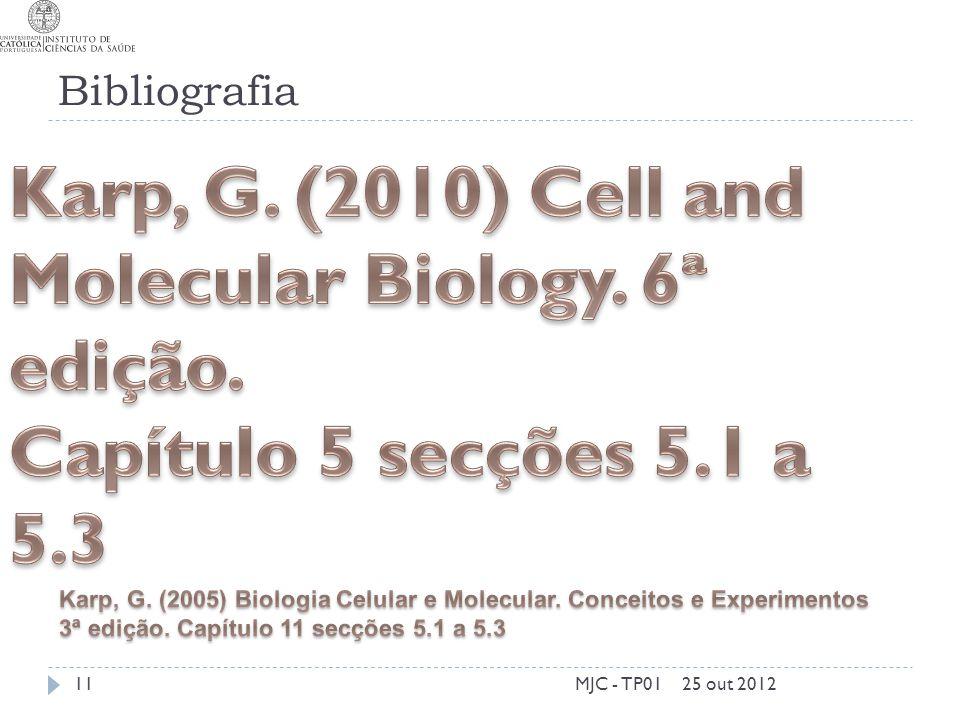 Bibliografia 25 out 2012MJC - TP0111