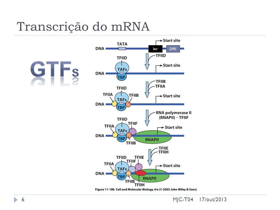 Transcrição do mRNA 17/out/20136MJC-T04 InrDPE