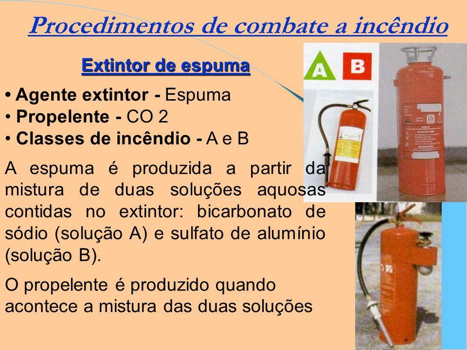 Os extintores portáteis são empregados para combater princípios de incêndios e são eficazes para extinguir o fogo em seus momentos iniciais. Os extint