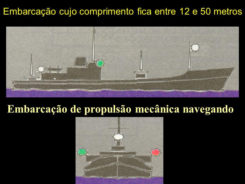 Embarcações de propulsão mecânica em movimento com mais de 50 metros de comprimento Embarcação de propulsão mecânica navegando