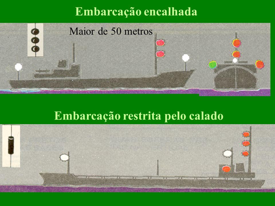 Embarcação sem governo Sem segmento Com segmento Embarcação Fundeada Maior de 50 metros Menor de 50 m