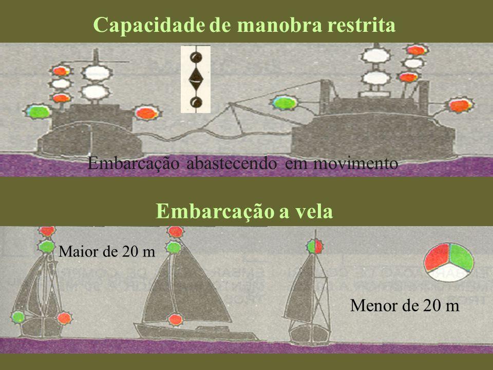 Embarcação encalhada Maior de 50 metros Embarcação restrita pelo calado