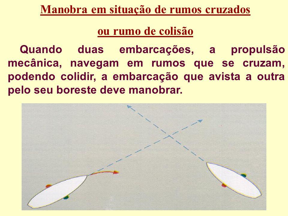 Se dois barcos de propulsão mecÂnica se encontram roda a roda, ois dois devem guinar para boreste; Se dois pesqueiros se encontram roda a roda, os doi