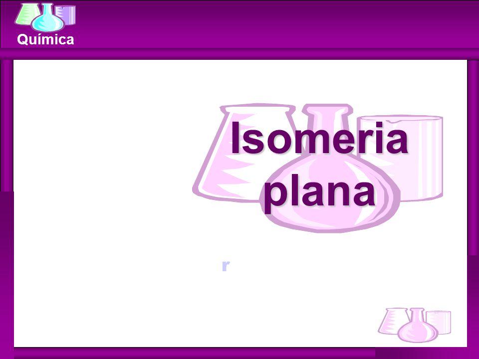Química Metameria (compensação) Isomeria de compensação ocorre quando os isômeros diferem pela posição de um heteroátomo na cadeia carbônica.