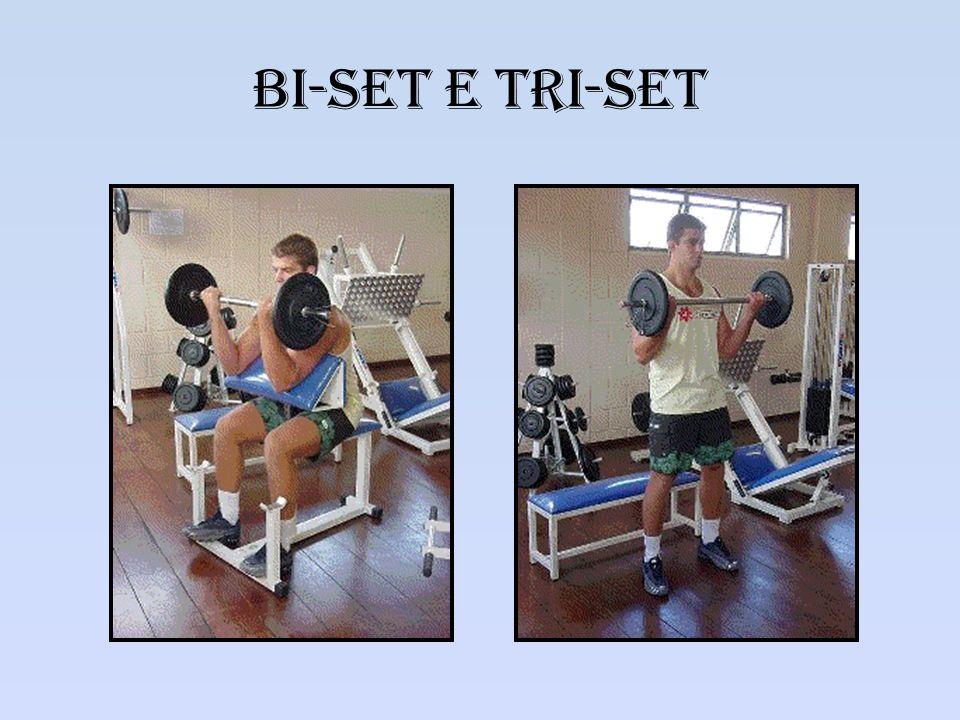 Set gigante Caracterização – Uma exarcebação do tri- set Mais de três séries para o mesmo grupo muscular.