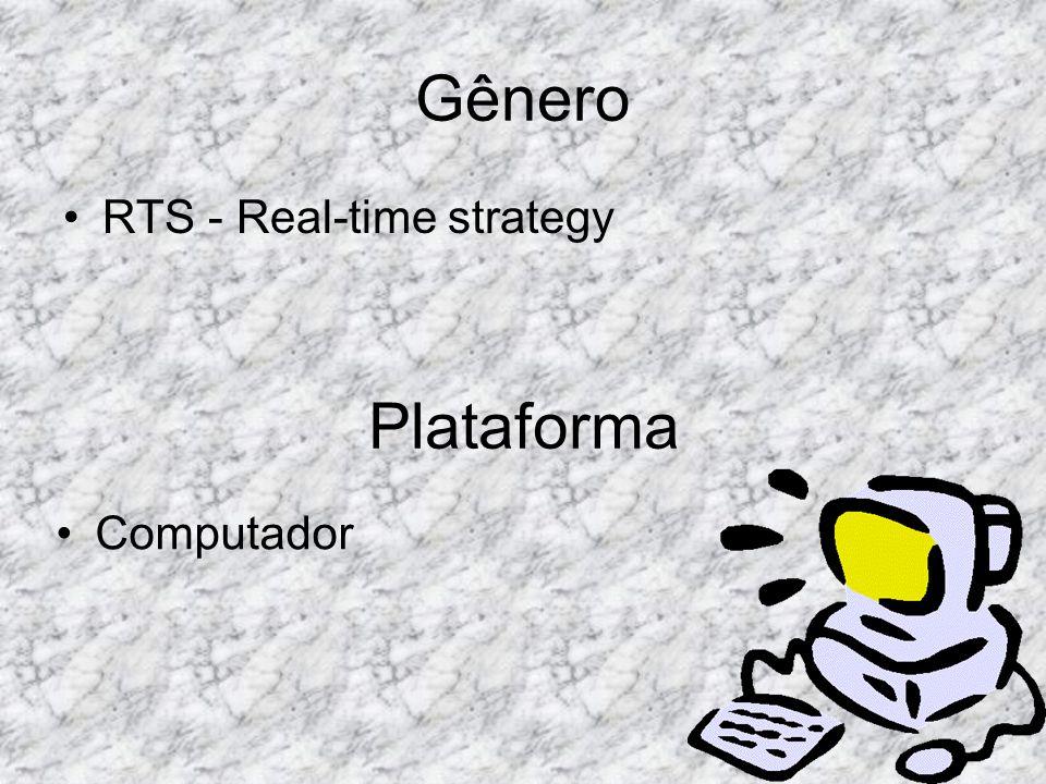 Gênero RTS - Real-time strategy Plataforma Computador