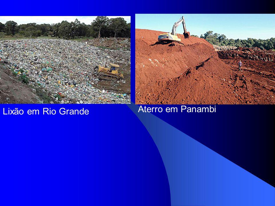 Lixão em Rio Grande Aterro em Panambi