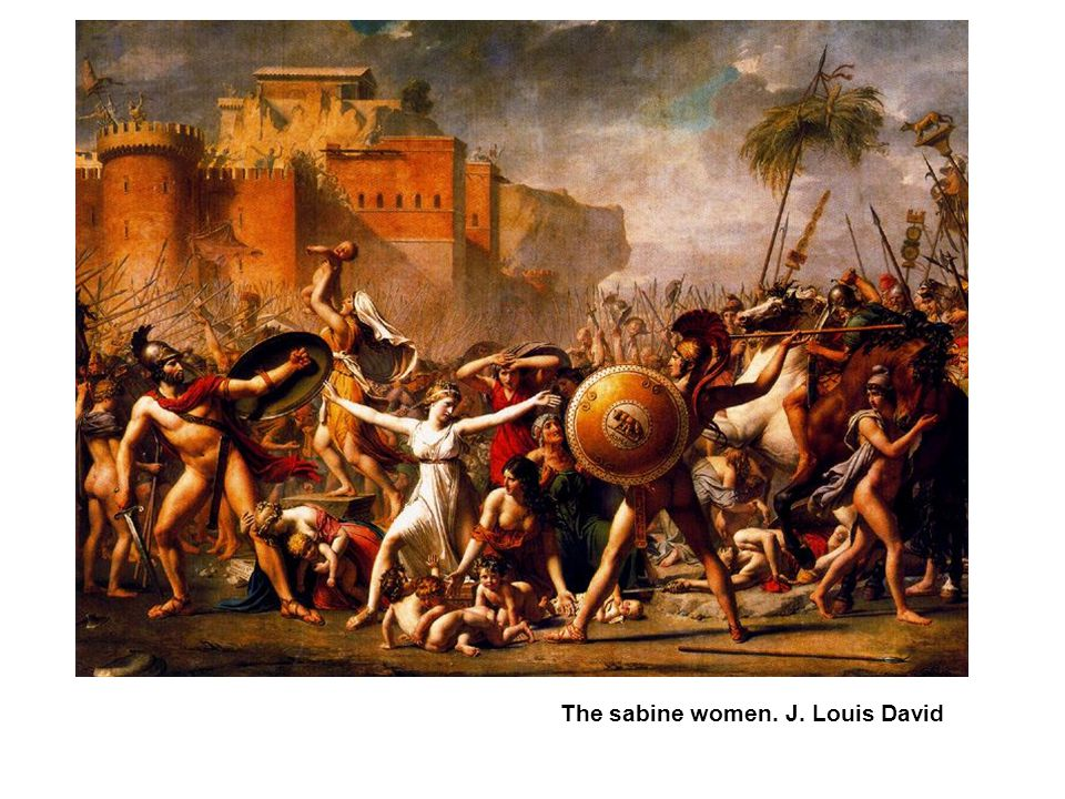 The sabine women. J. Louis David