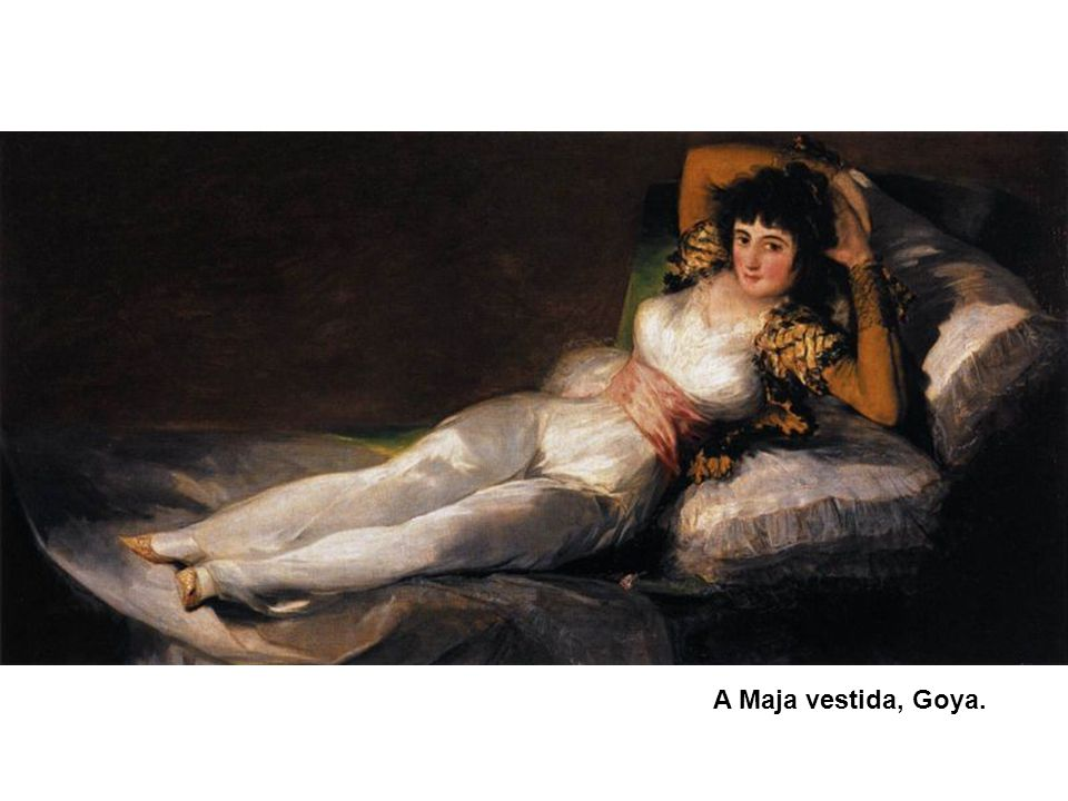 A Maja vestida, Goya.