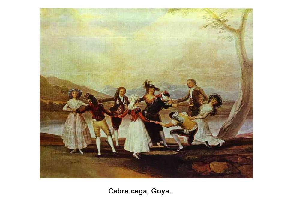 Cabra cega, Goya.