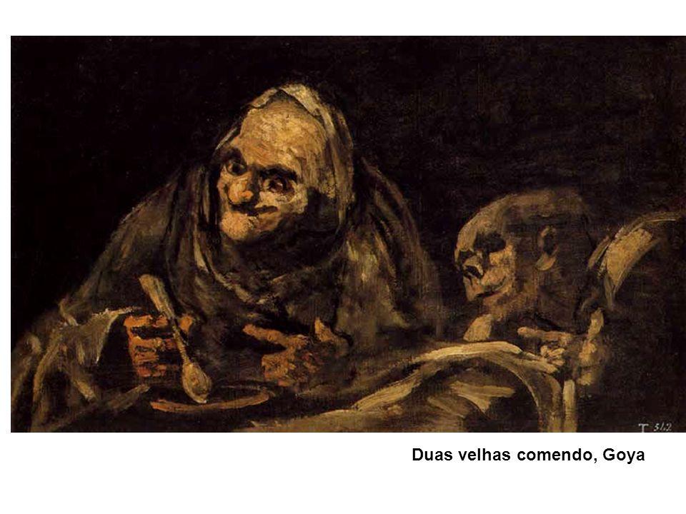 Duas velhas comendo, Goya