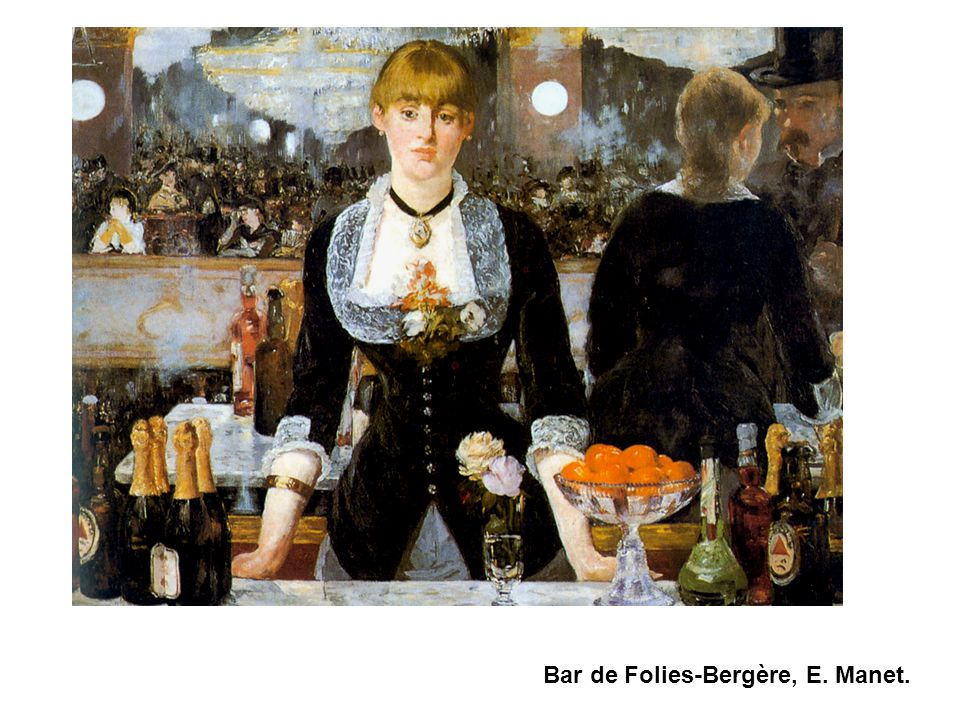 Bar de Folies-Bergère, E. Manet.