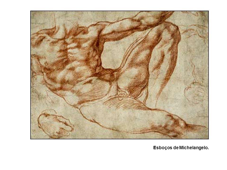 Esboços de Michelangelo.