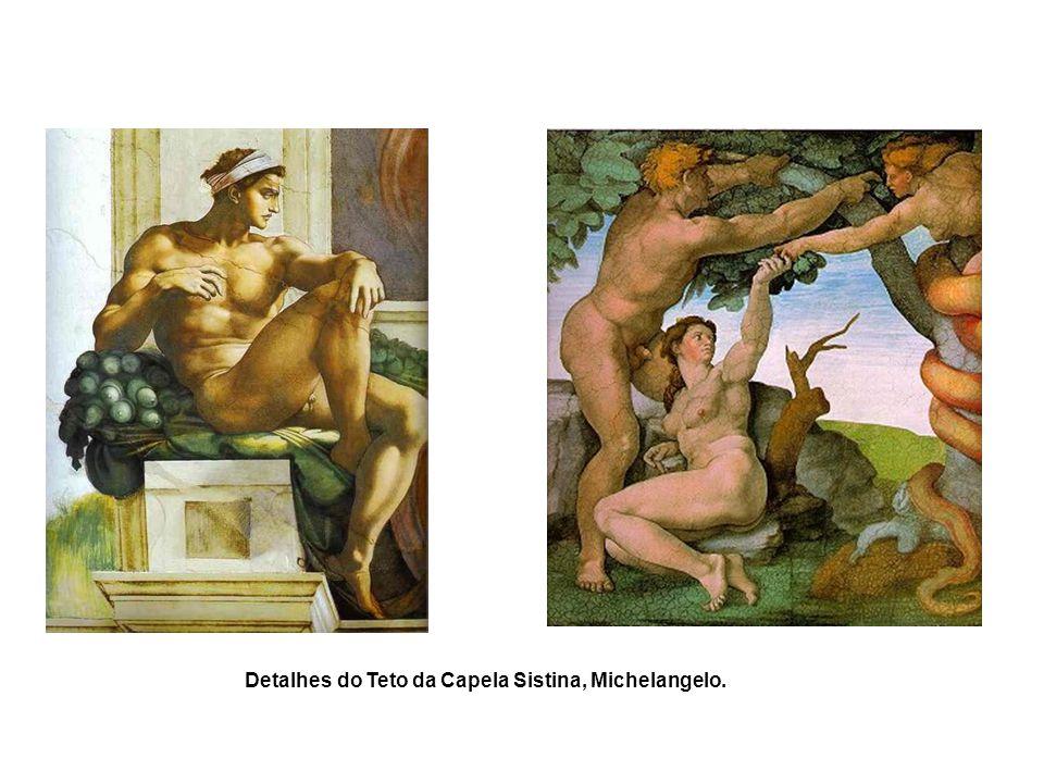 Detalhes do Teto da Capela Sistina, Michelangelo.