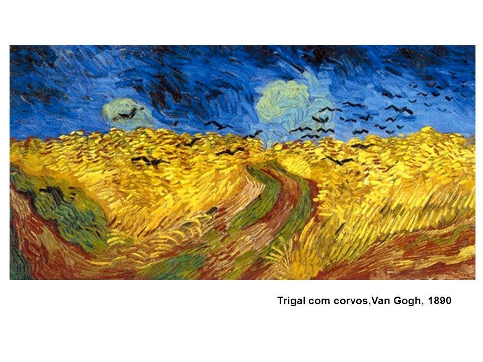 Trigal com corvos,Van Gogh, 1890