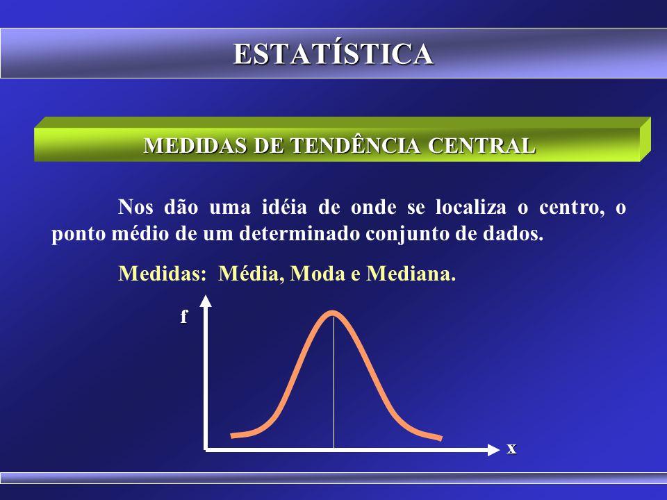 Prof. Hubert Chamone Gesser, Dr. Disciplina de Análise Estatística Retornar Medidas de Tendência Central
