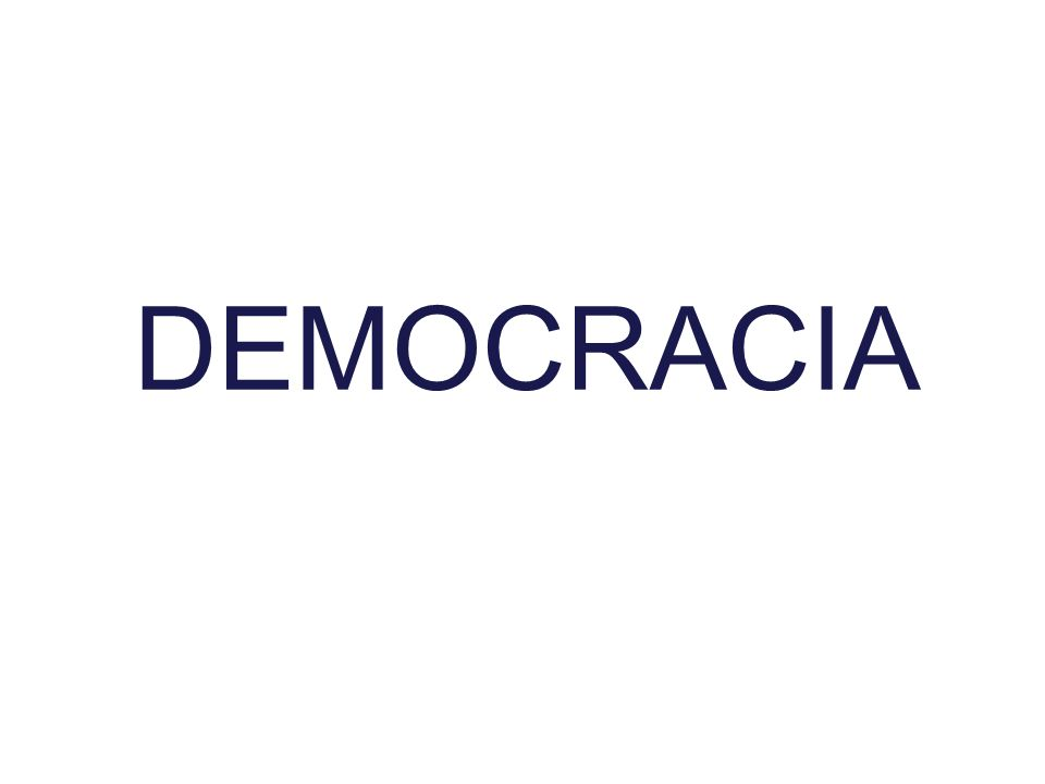 Democracia é sinônimo de condições sociais igualitárias.