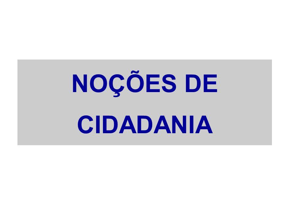 NOÇÕES DE CIDADANIA