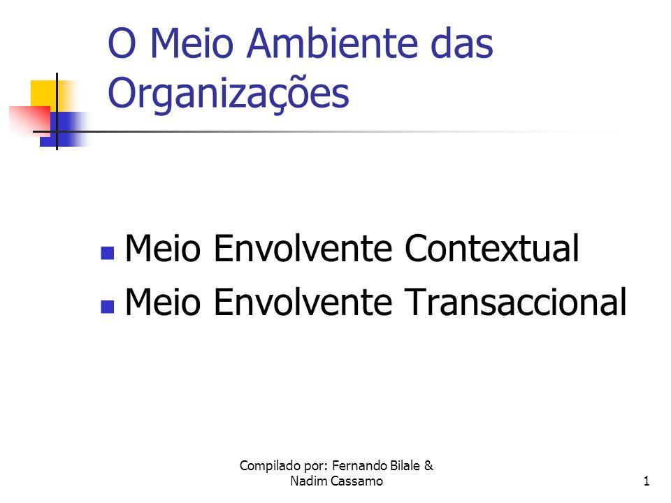 Compilado por: Fernando Bilale & Nadim Cassamo1 O Meio Ambiente das Organizações Meio Envolvente Contextual Meio Envolvente Transaccional