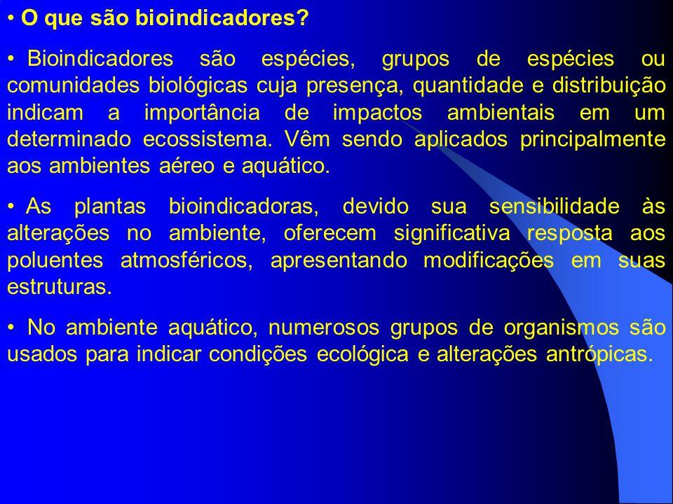 O que são bioindicadores.