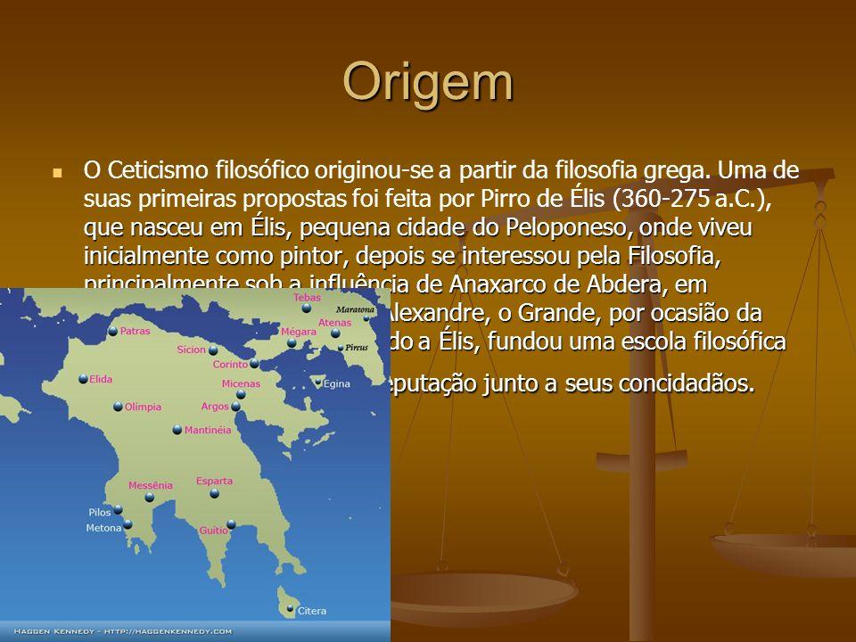Origem que nasceu em Élis, pequena cidade do Peloponeso, onde viveu inicialmente como pintor, depois se interessou pela Filosofia, principalmente sob
