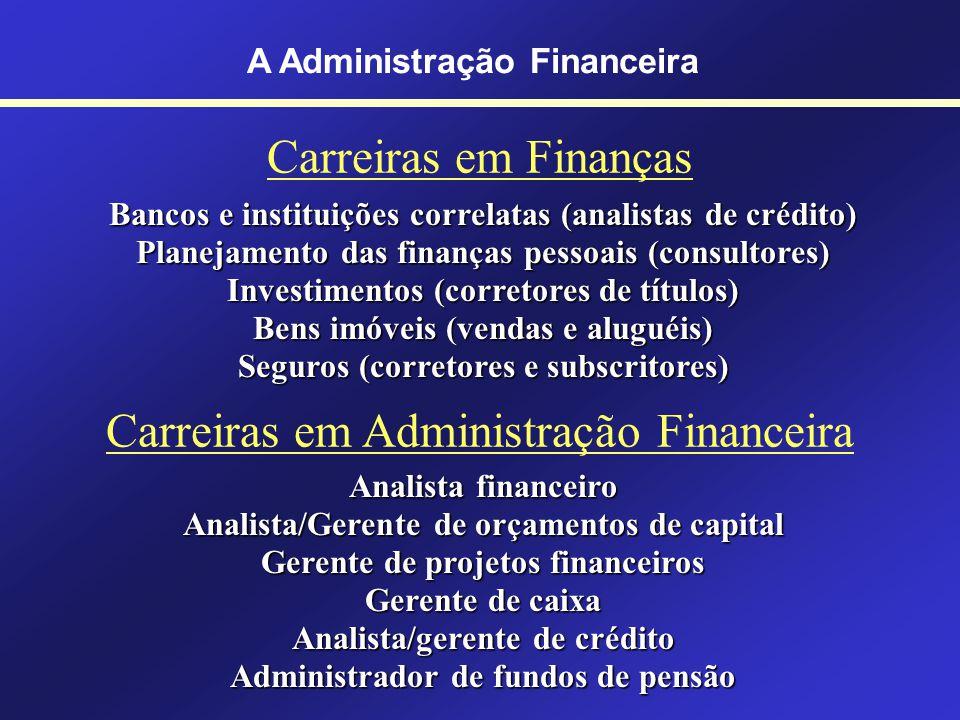 Conceito de Finanças A Administração Financeira É a arte e a ciência de administrar fundos. O estudo das finanças ocupa-se do processo, instituições,