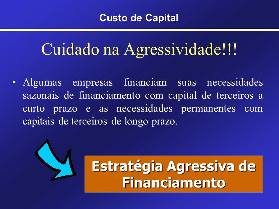 Custo de Capital O CMPC é uma ponderação entre os valores do Kd e do Ks Kd sai do Passivo do Balanço patrimonial Ks sai do Patrimônio líquido do Balan