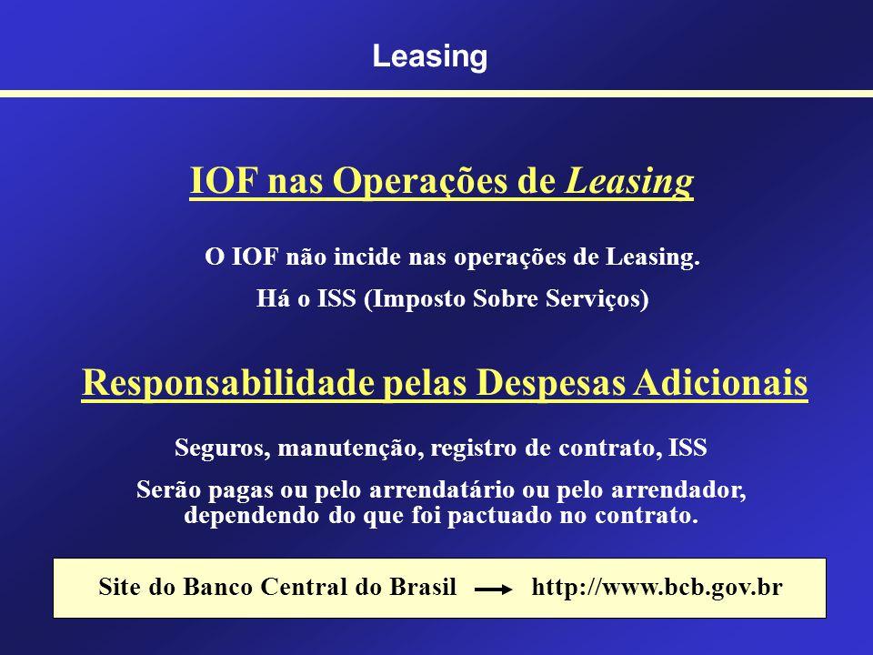 Leasing Prazos Mínimos de um Contrato de Leasing Não é permitida a quitaçãodo contrato de leasing antes desses prazos. A opção de compra só pode ser f