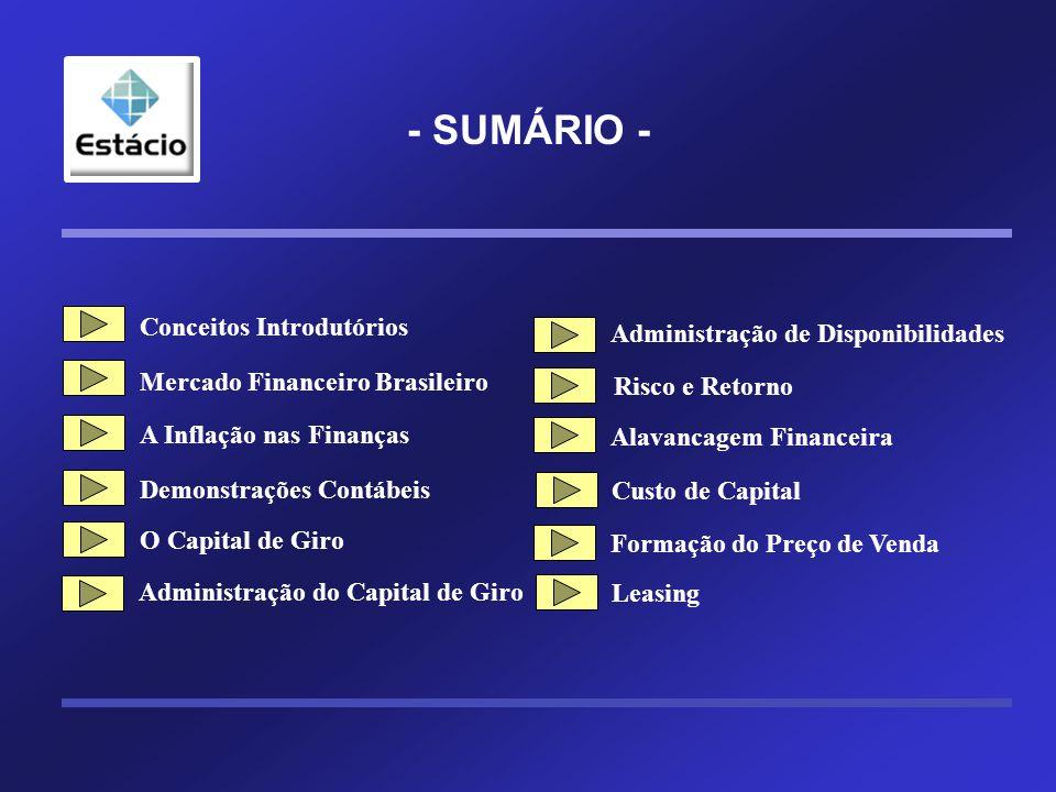 Separando as fontes de financiamento PC PC ELP ELP PL PL Terceiros Próprios CP LP Estrutura de Capital Estrutura de Capital Custo de Capital