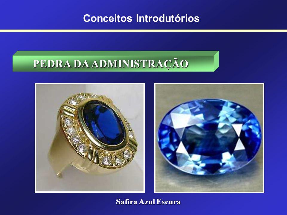 Conceitos Introdutórios PEDRA DA ADMINISTRAÇÃO A pedra do Administrador é a safira azul escura, cor que identifica as atividades criadoras, por meio d