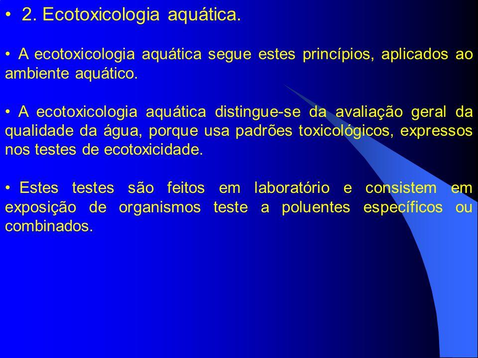 3.Ecotoxicologia e a avaliação de risco ambiental.