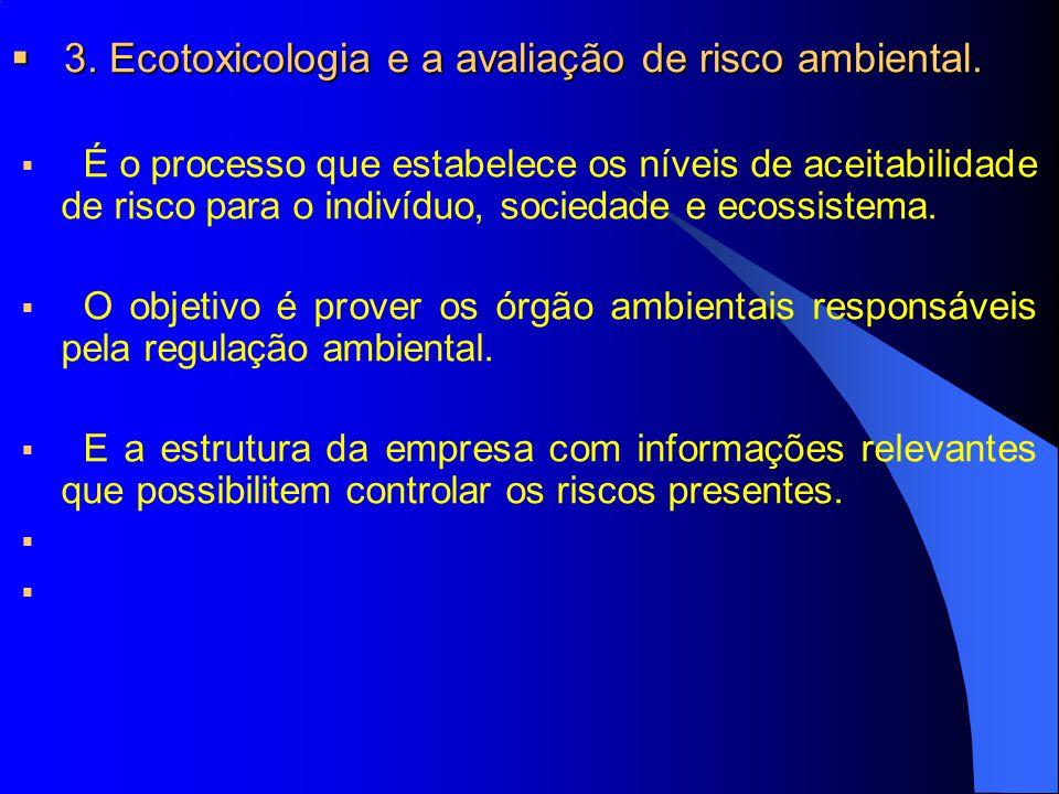 4.A avaliação de risco ambiental: etapas. 4. A avaliação de risco ambiental: etapas.