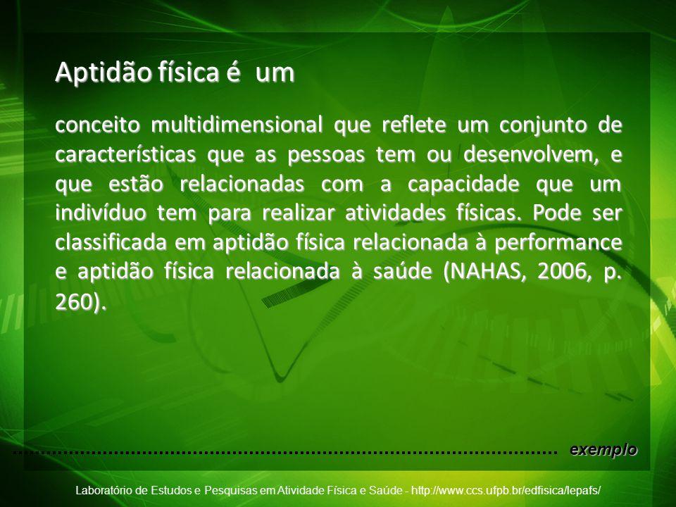 Laboratório de Estudos e Pesquisas em Atividade Física e Saúde - http://www.ccs.ufpb.br/edfisica/lepafs/